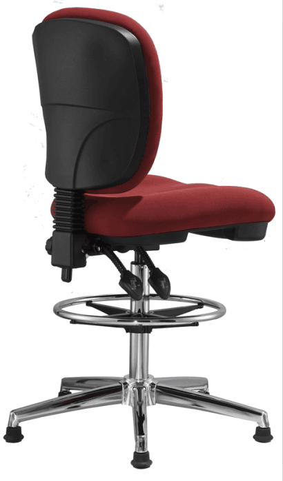 fabric office drafting chair height adjustable operator chair counter cashier computer chair -3