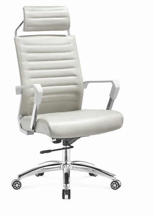China Alibaba Fashionable Swivel Leather Executive Office Chair With Ergonomic Headrest -1