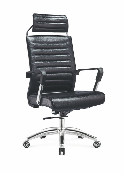 China Alibaba Fashionable Swivel Leather Executive Office Chair With Ergonomic Headrest -2