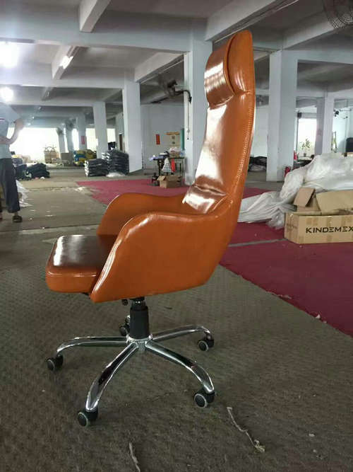 China factory high back genuine leather executive office chair big and tall manager seating -2