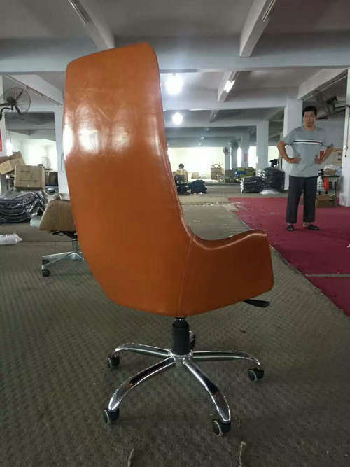 China factory high back genuine leather executive office chair big and tall manager seating -3