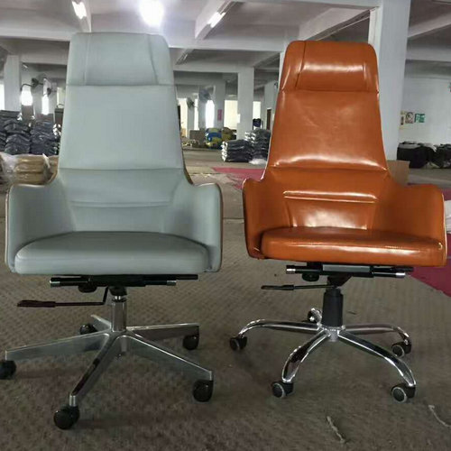China factory high back genuine leather executive office chair big and tall manager seating