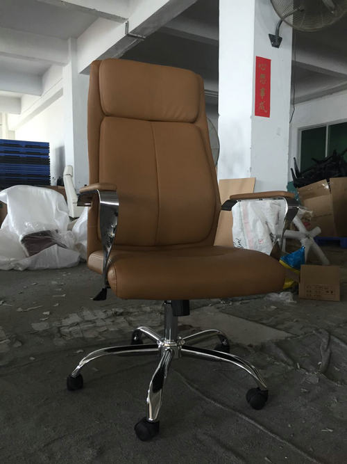 Comfortable design adjustable lumbar support PU leather ergonomic executive office chair -1