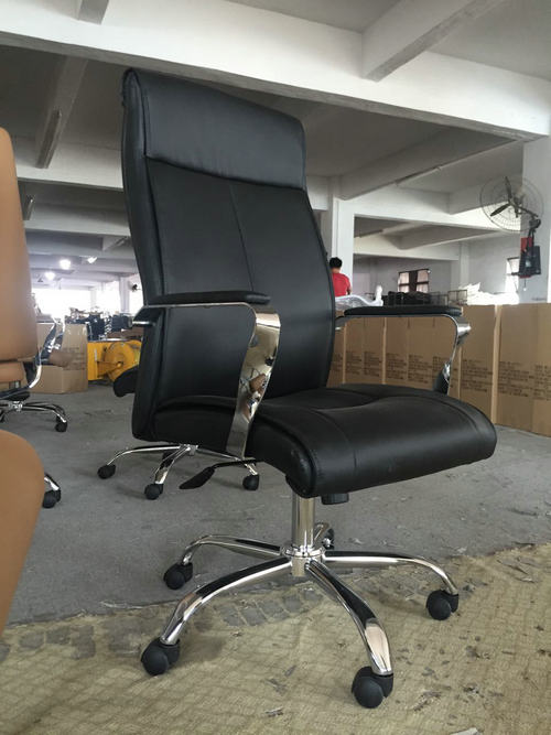 Comfortable design adjustable lumbar support PU leather ergonomic executive office chair -2