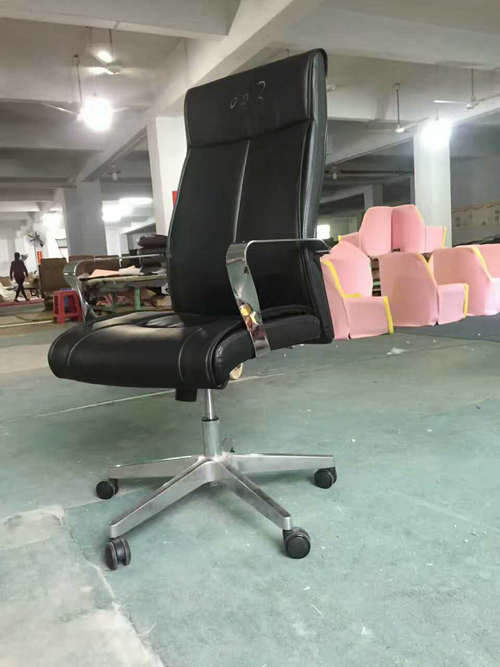 Comfortable design adjustable lumbar support PU leather ergonomic executive office chair -3