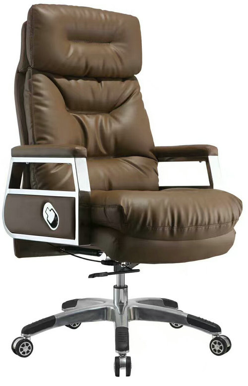 High back quality manager ergonomic computer leather swivel office chair with heavy duty base -1