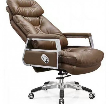 High back quality manager ergonomic computer leather seating swivel office chair with heavy duty base