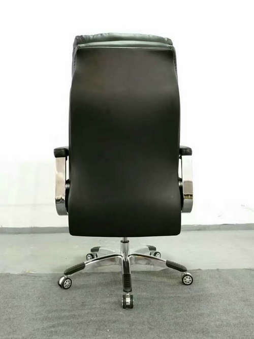 High back quality manager ergonomic computer leather swivel office chair with heavy duty base -6