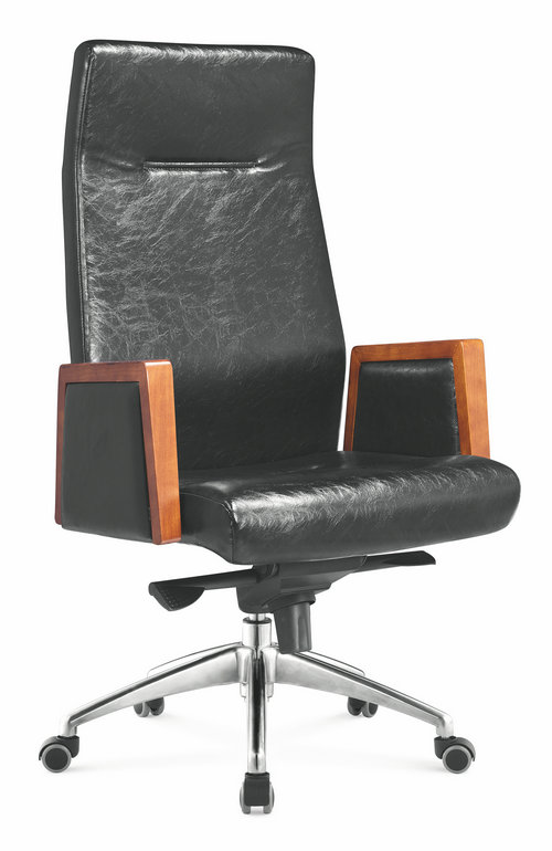Made In China genuine leather swivel executive manager office chair heavy duty office seating -3
