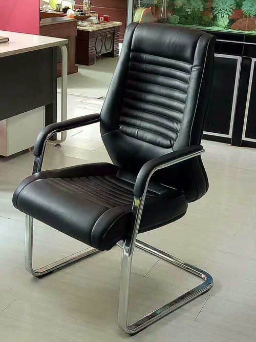 Customized PU leather meeting office chair visitor chair conference seating for public areas -2