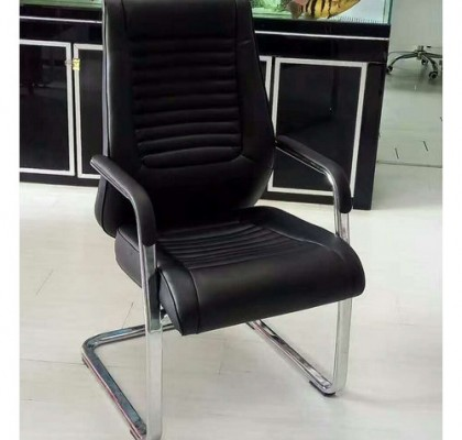 Shunde Customized PU leather meeting office chair visitor chair boardroom seating without castors