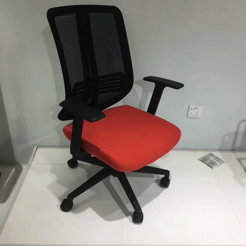 Ergonomic Cheap Office Mesh Computer Chair Staff Chair with Adjustable Plastic Armrest -2