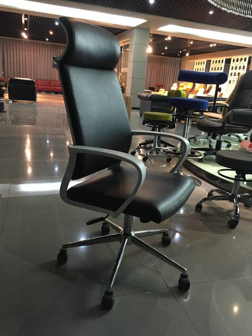 Ergonomic High-Back Gaming Chair PU Leather Bucket Seat Computer Swivel Lumbar Support -1