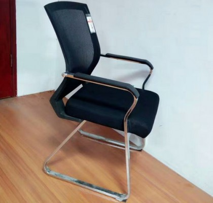 Guangzhou Middle Back Office Conference Meeting Mesh Chair Visitor Seats Without Wheels