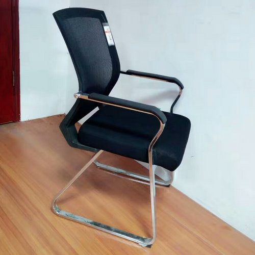 High Quality Middle Back Office Conference Meeting Mesh Chair Visitor Chair Without Wheels -1