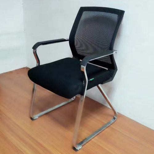 High Quality Middle Back Office Conference Meeting Mesh Chair Visitor Chair Without Wheels -2
