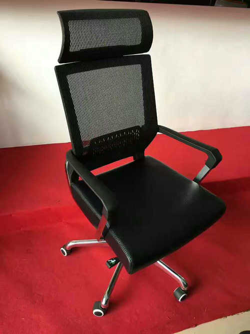 Top Sale Adjustable Ergonomic High Back Lumbar Support Mesh Office Chair With Headrest -2