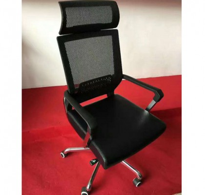 China Alibaba Adjustable Ergonomic High Back Lumbar Support Mesh Office Chair With Headrest