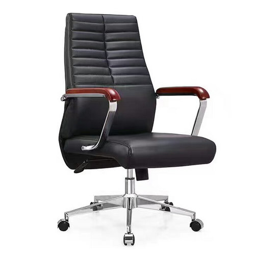 Ergonomic Executive Office Chair Task Swivel Manager Leather Chair Thick Padded Contour Seat -1