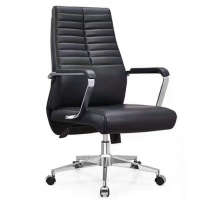 Shenzhen Executive Office Chair Task Swivel Manager Leather Chair Thick Padded Contour Seating