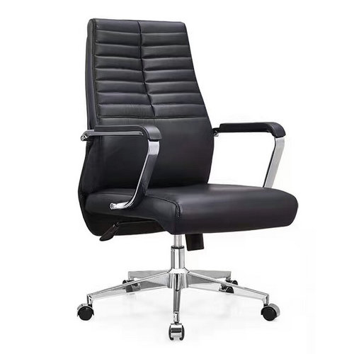 Ergonomic Executive Office Chair Task Swivel Manager Leather Chair Thick Padded Contour Seat -2