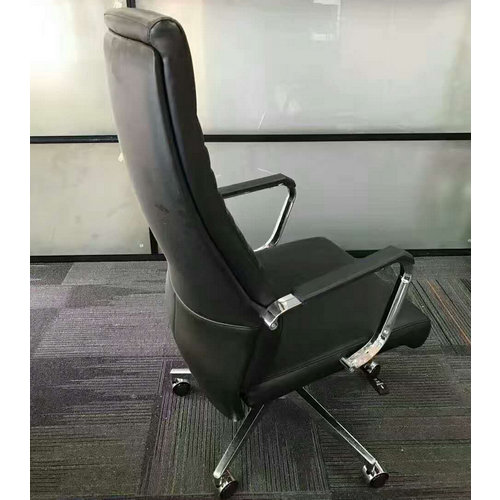 Ergonomic Executive Office Chair Task Swivel Manager Leather Chair Thick Padded Contour Seat -4