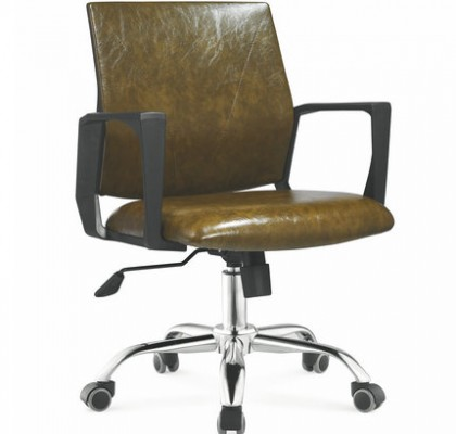 Guangzhou factory Low Back PU Leather Staff Office Chair Working Seating Consulting Room Chair