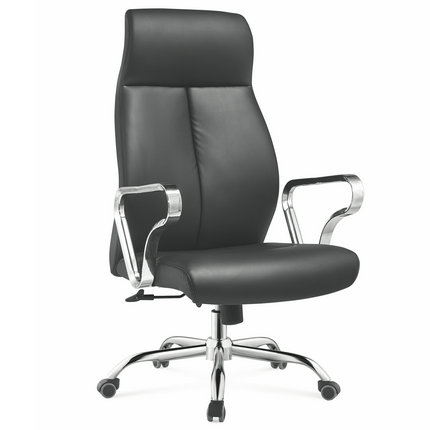modern furniture foshan china executive black genuine leather office chair manager seating -1