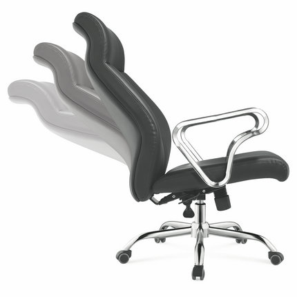 modern furniture foshan china executive black genuine leather office chair manager seating -2