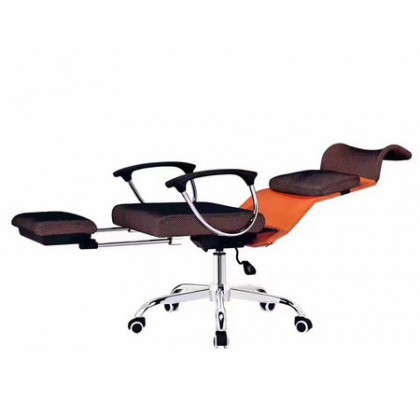 Merax Racing Style Executive Mesh Swivel Chair with Footrest and Back Support Reclining