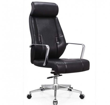 Dynamic Furniture Carter Black High Backed Luxury Faux Manager Office Chair