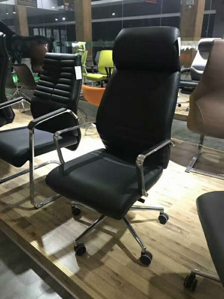 Deauville Swivel Black PU Leather Manager Office Computer Chair -6