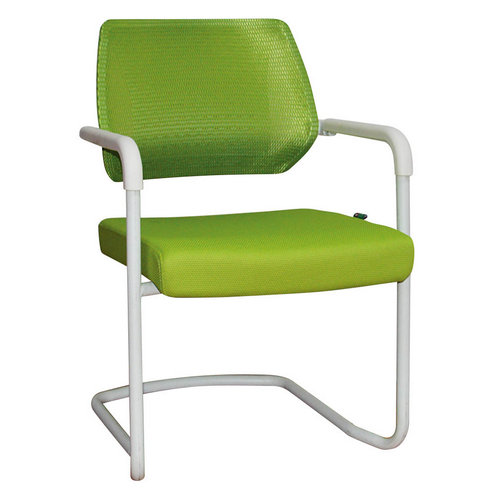 Eurotech Apollo Mesh Guest Chair With Sled Base Girsberger Yanos Cantilever Meeting Chair -3
