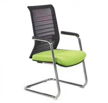 Medium back coloured fabric seat mesh office conference cantilever chair