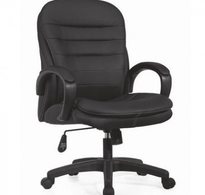 Purchase The Trojan Discount Soft Pad Office Black Leather Chair From China
