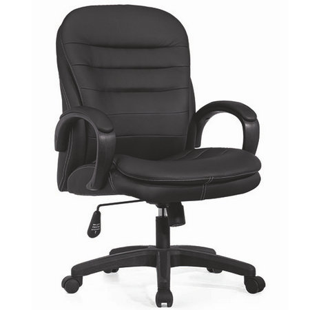 discount modern soft pad office leather conference meeting room chair under 200 with wheels -1